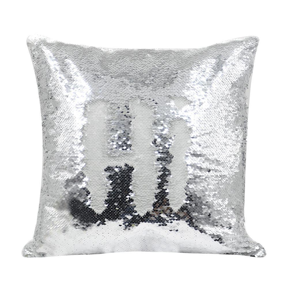 silver sequin cushion cover 40 x 40 cm