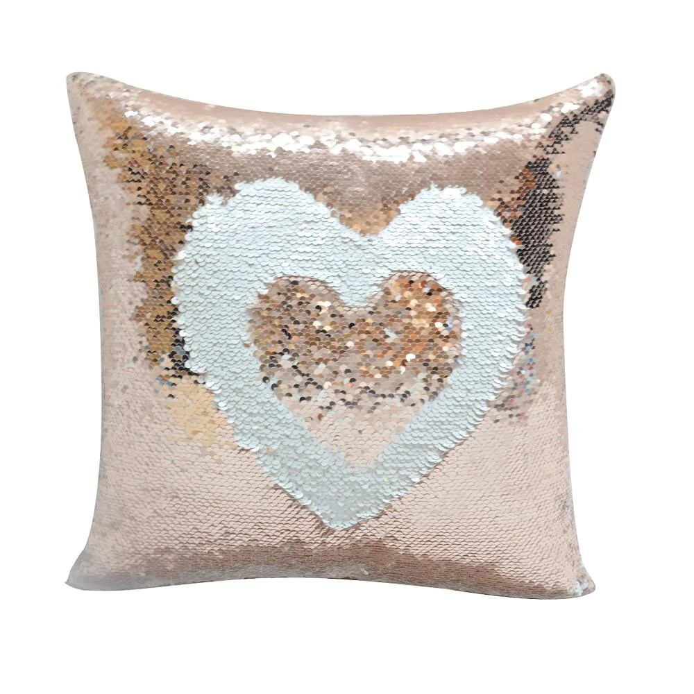 champagne gold sequin cushion cover 40 x 40 cm