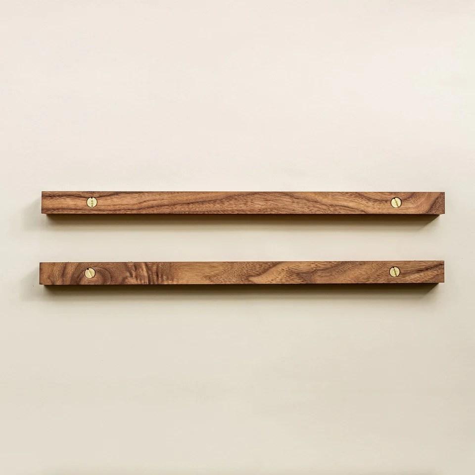 walnut hanging rails