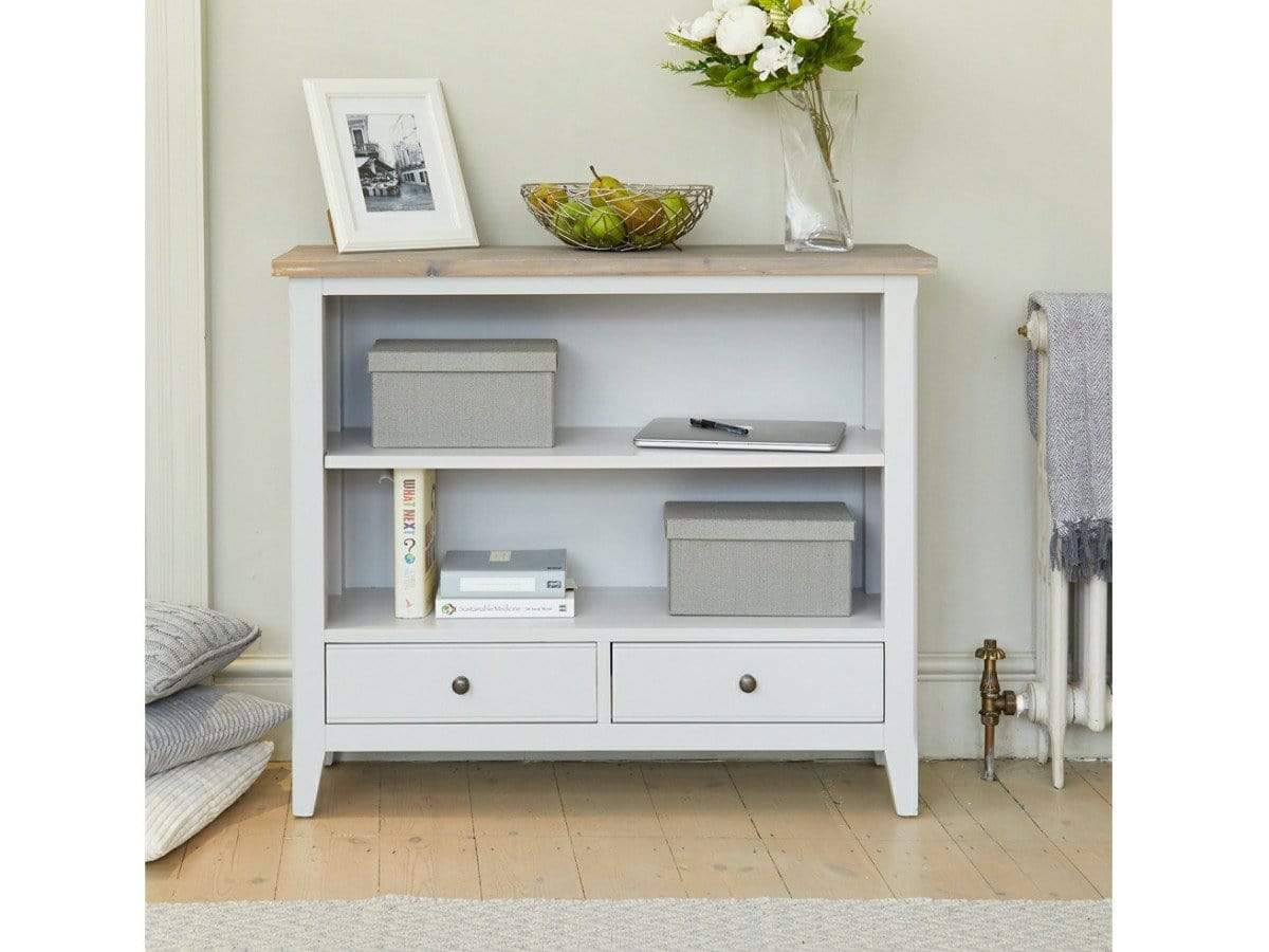 Farmhouse Grey Small Painted Bookcase Unni Evans