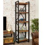 Narrow Reclaimed Wood Bookcase Greenway Furniture