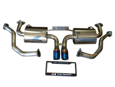 top speed pro 1 titanium exhaust system 987 1 cayman boxster