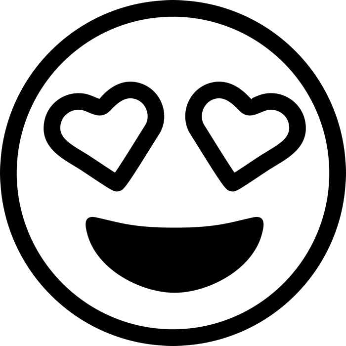 Heart Eyes Emoji Rubber Stamp Emoji Stamps Stamptopia