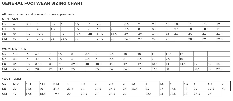 Adidas Mens Size Conversion Womens Shoe Chart To Ftsfqf