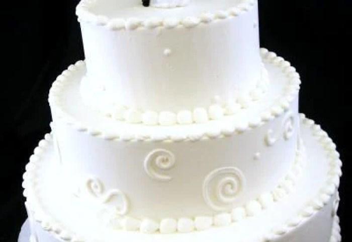 Modern Design Classic Wedding Cake Tiffanys Bakery
