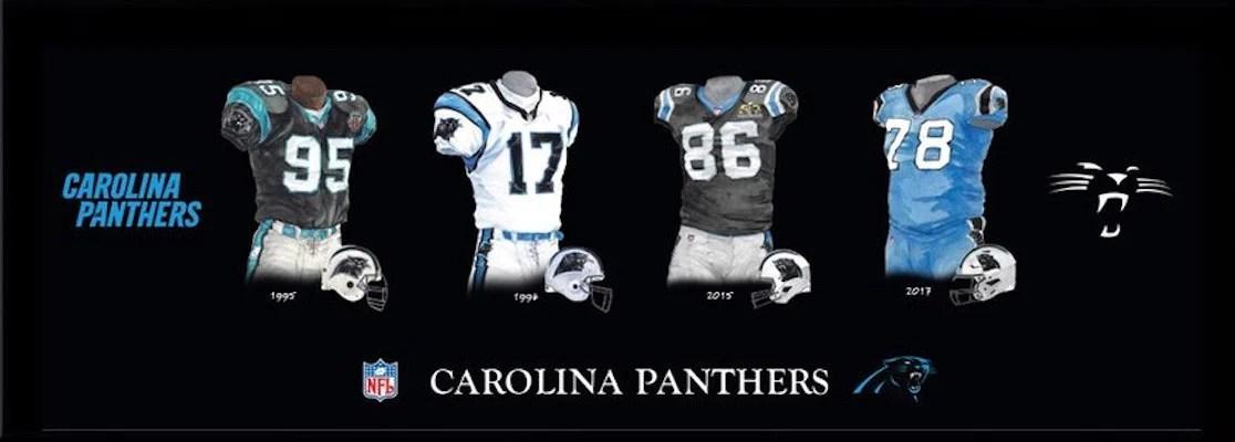 carolina panthers heritage sports art
