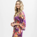 Purple Floral Bridesmaid Robe Timeless Bridal Accessories