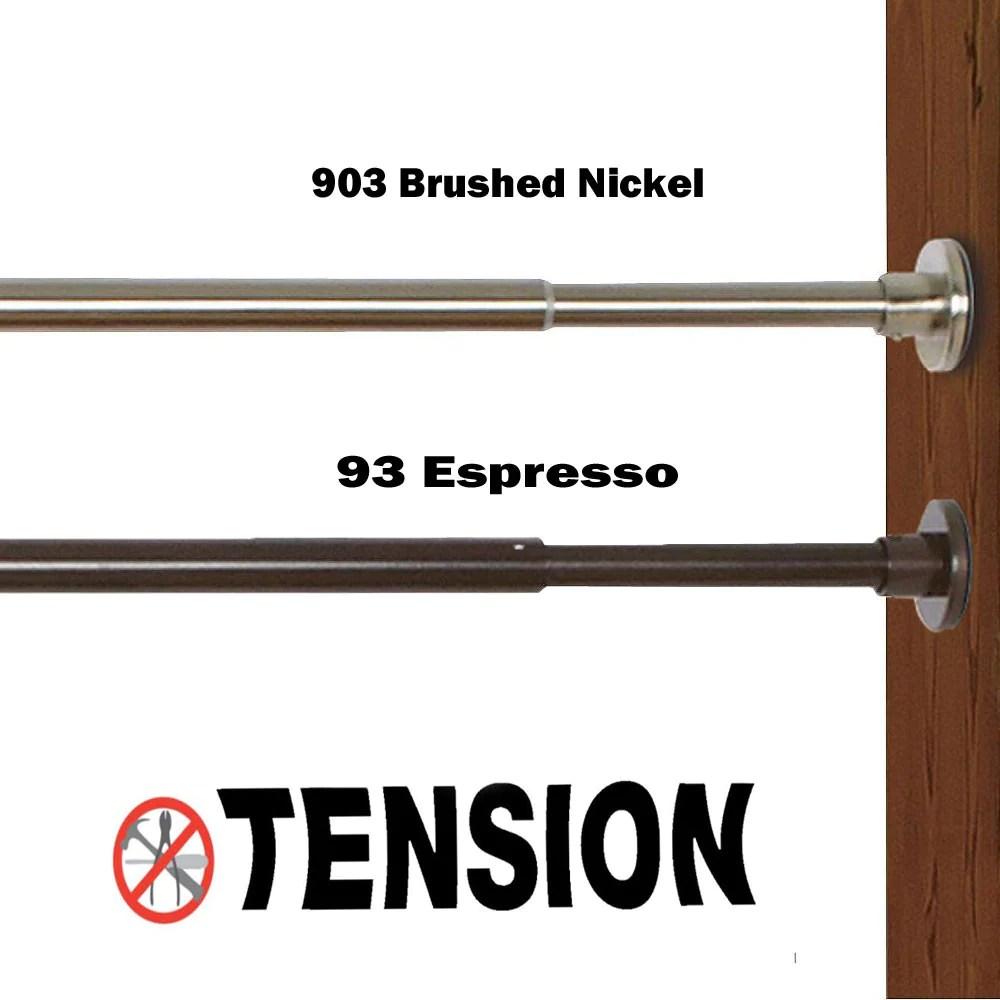 duo indoor outdoor stainless steel tension rod