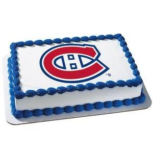 Montreal Canadiens Logo Edible Cake Cupcake Cookie Topper Trish Gayle