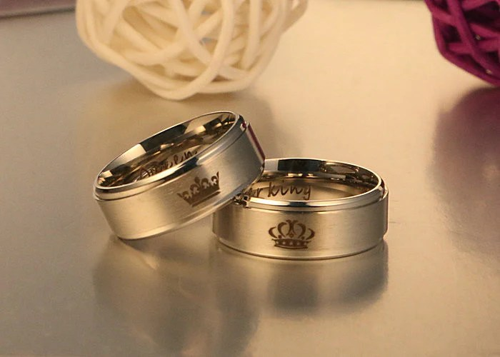 king and queen rings