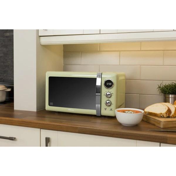 blue 800 w swan sm22030bln retro digital microwave large appliances ecog microwave ovens