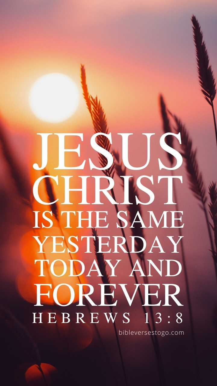 Beach Sunrise Hebrews 13 8 Phone Wallpaper Free Bible Verses To Go