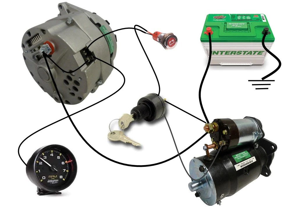 Delco Remy Alternator Tach Wiring Diagram  Wiring Diagram