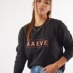 All About Eve Clothing AAE LEOPARD CREW - WASHED BLACK