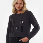 All About Eve Clothing AAE PIPING CREW - WASHED BLACK
