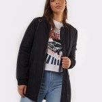 All About Eve Clothing BOMBER FORCE LONGLINE - BLACK