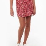 All About Eve Clothing HAND PAINTED FLORAL SKIRT - PRINT