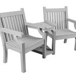Sandwick Winawood Wood Effect Love Seat Stone Grey Maison Garden