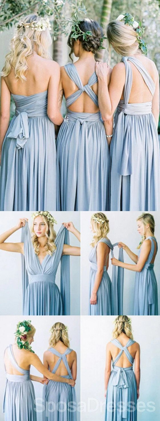 necklines for mismatched dresses