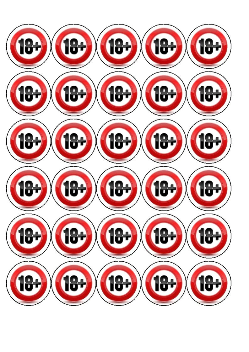 Happy 18th Birthday 18 Edible Cake Cupcake Toppers Incredible Cake Toppers