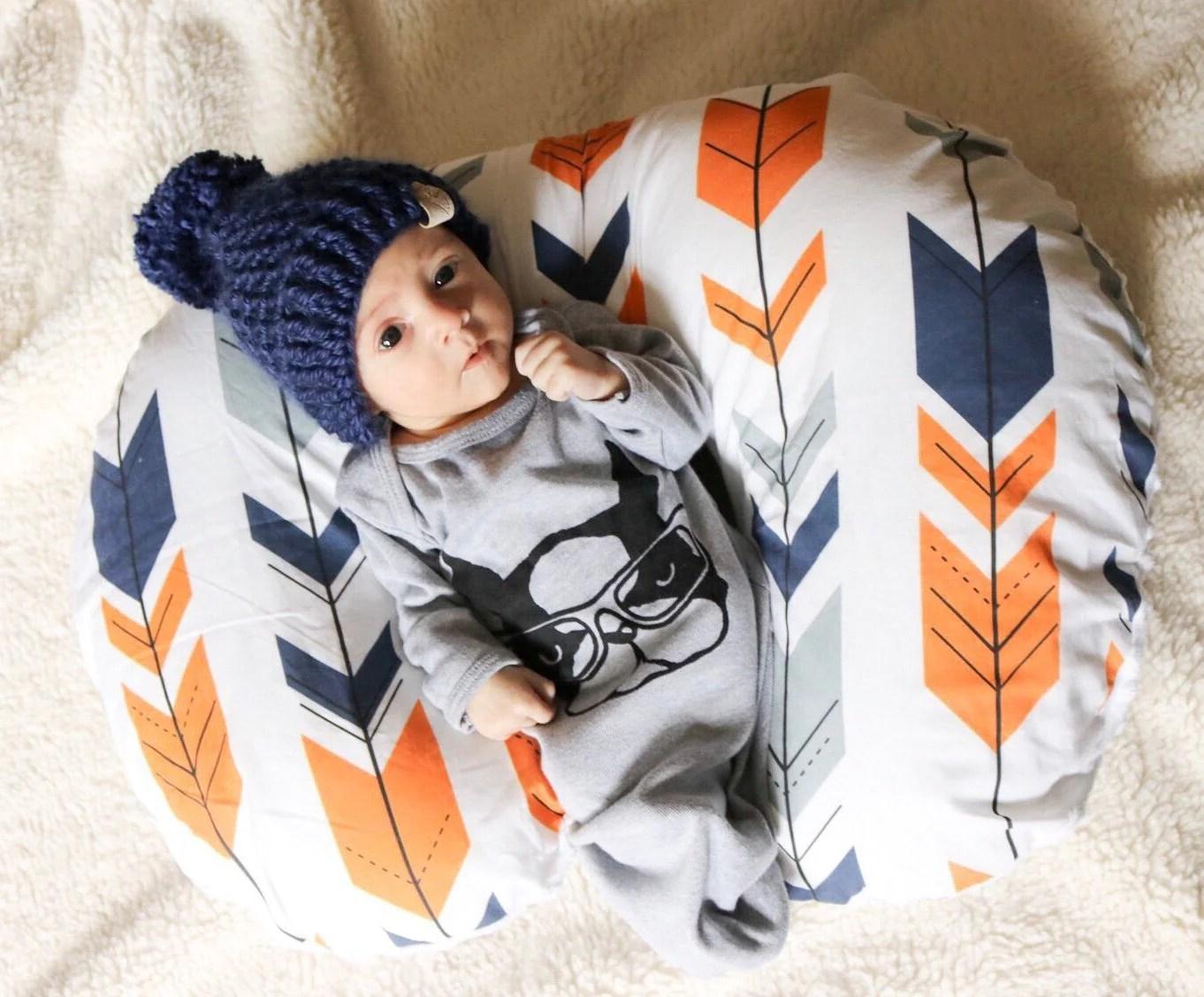 Arrow Nursing Pillow Cover Tribal Nursery Cover Boho Boppy Cover Dream Evergreen