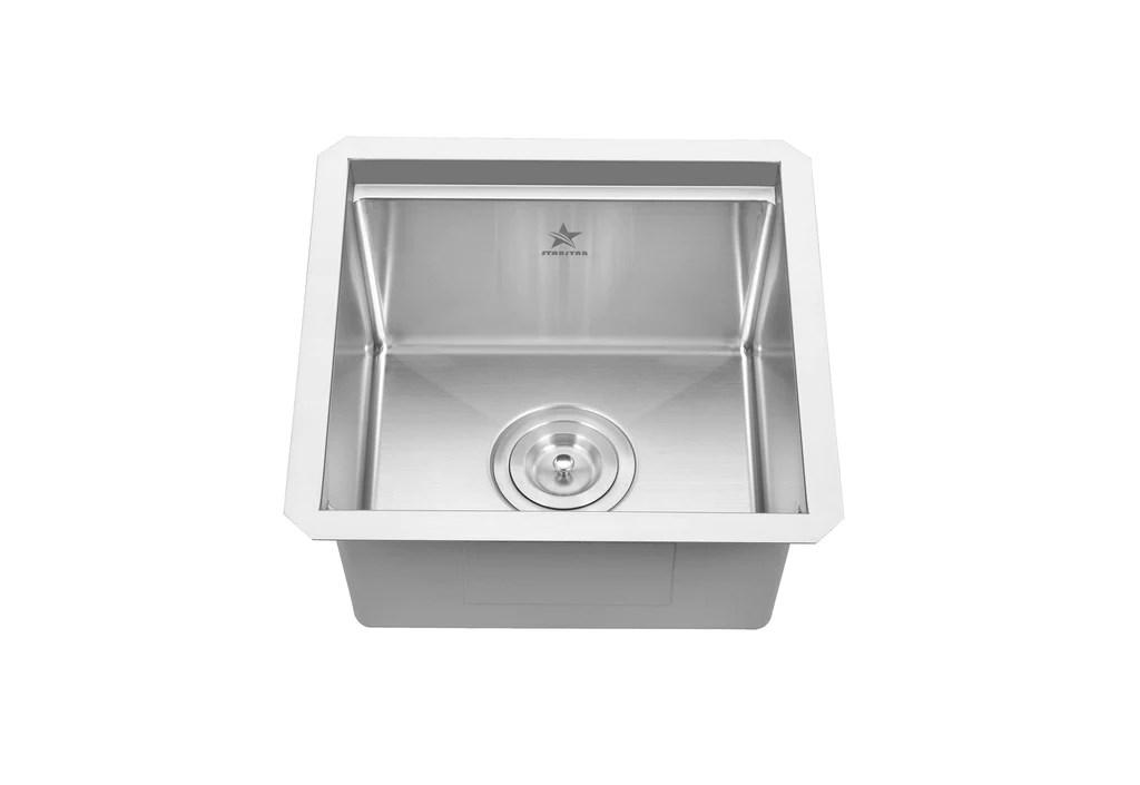 workstation ledge undermount single bowl 304 stainless steel kitchen sink 15 x 15