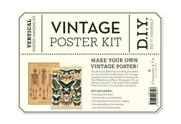 vintage poster hanging kit