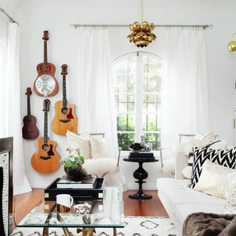 Rock n' Roll Home Decor Ideas and Where to Find Rocker ... on Rock Decorating Ideas  id=19147
