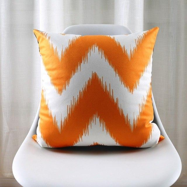 moroccan turquoise and orange coral cushions covers