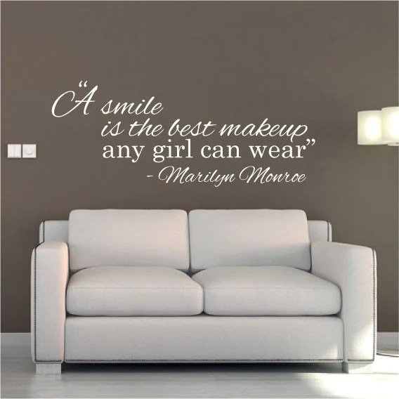 A Smile Is The Best Makeup Any Girl Can Wear Wall Sticker Makewallsco
