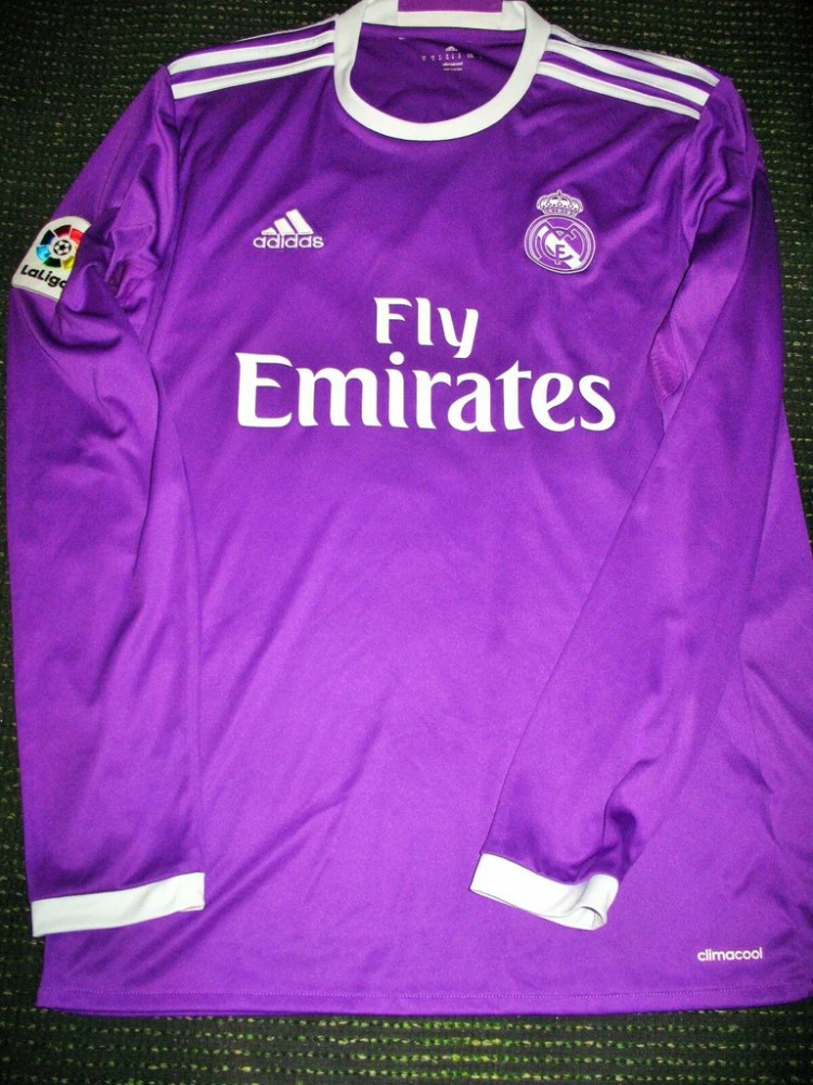 Asensio Real Madrid 2016 2017 Purple Long Sleeve Jersey ...