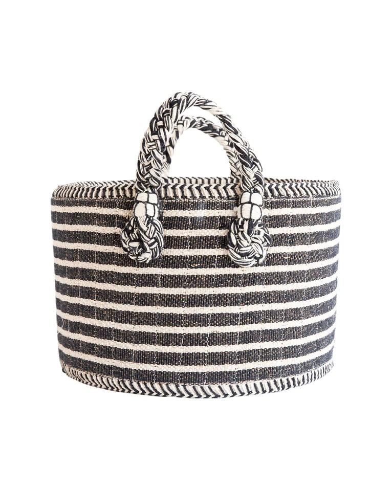 Black & White Stripe Baskets