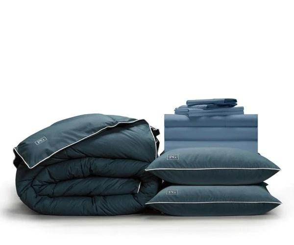 pillow guy classic cool crisp sheet set cadet blue queen