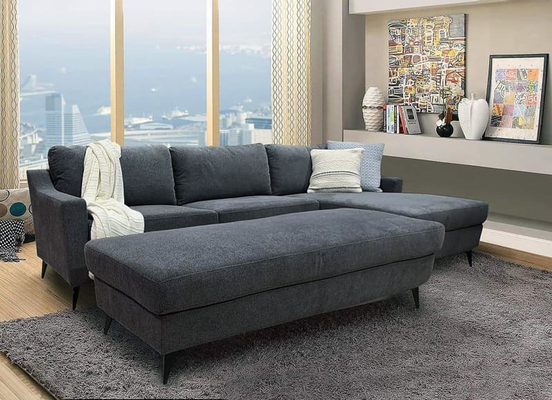 leon right chaise with ottoman