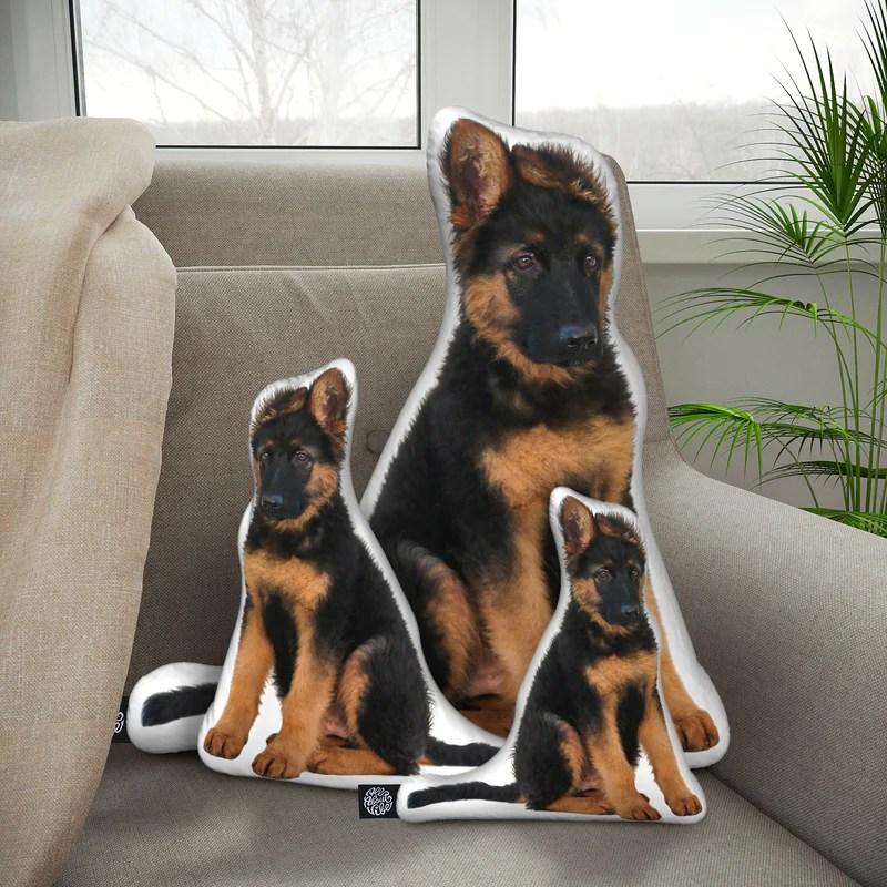 personalized german shepherd pillow
