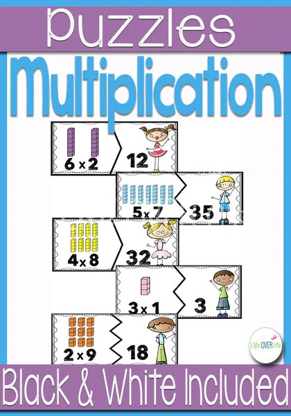 Multiplication Fact Puzzles for Multiples of 1-10
