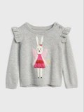 Gap Ruffle Bunny Fairy Sweater