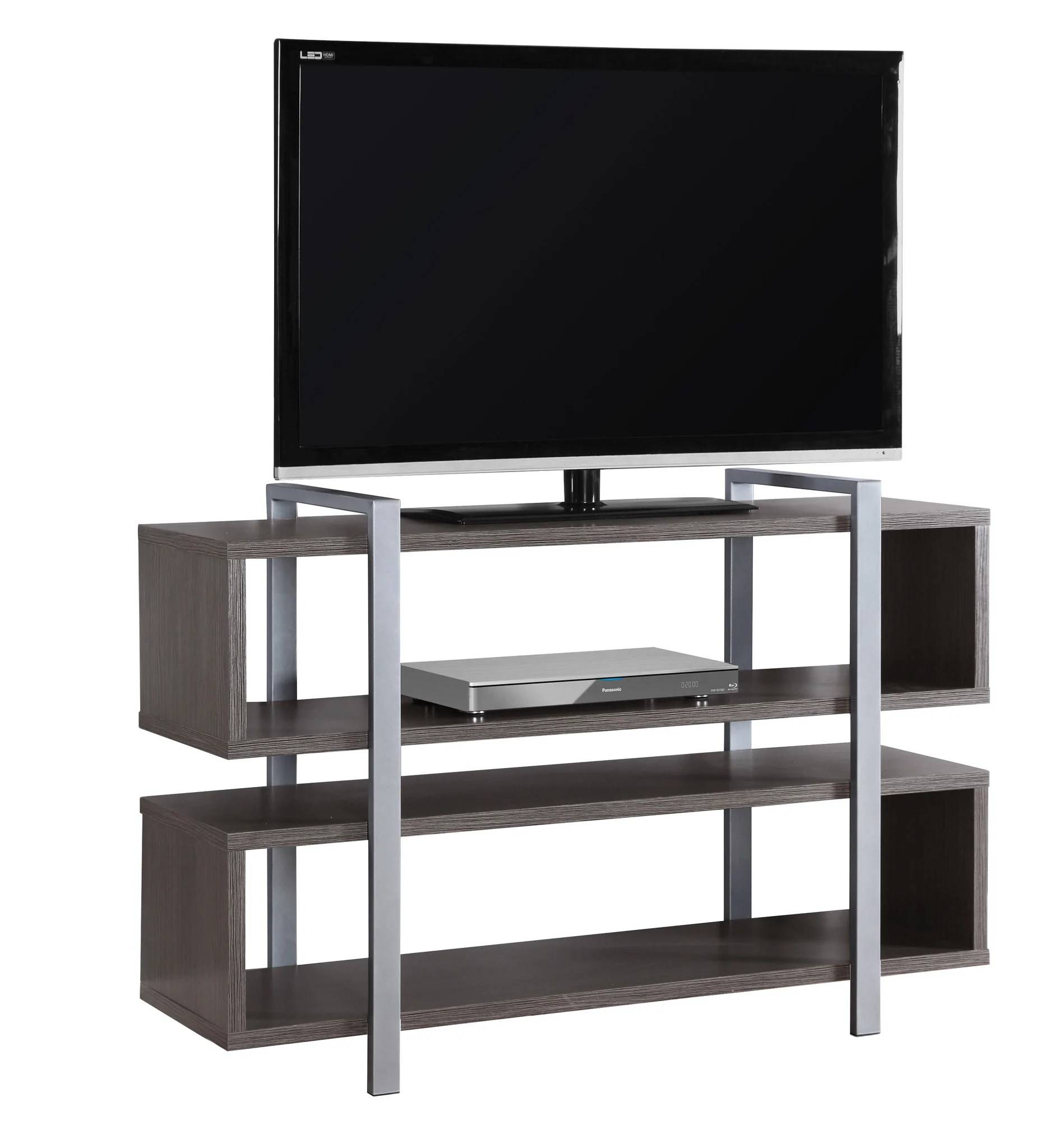48 L X 32 H Grey Bookcase And Tv Stand