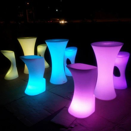 LED Illuminated Cocktail Table For Party Amp Event Hire LU QING WEN