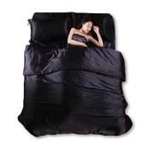 silk quilt black satin sheets bed linen cotton solid satin duvet cover set king size bedsheet 4pcs of bedding sets