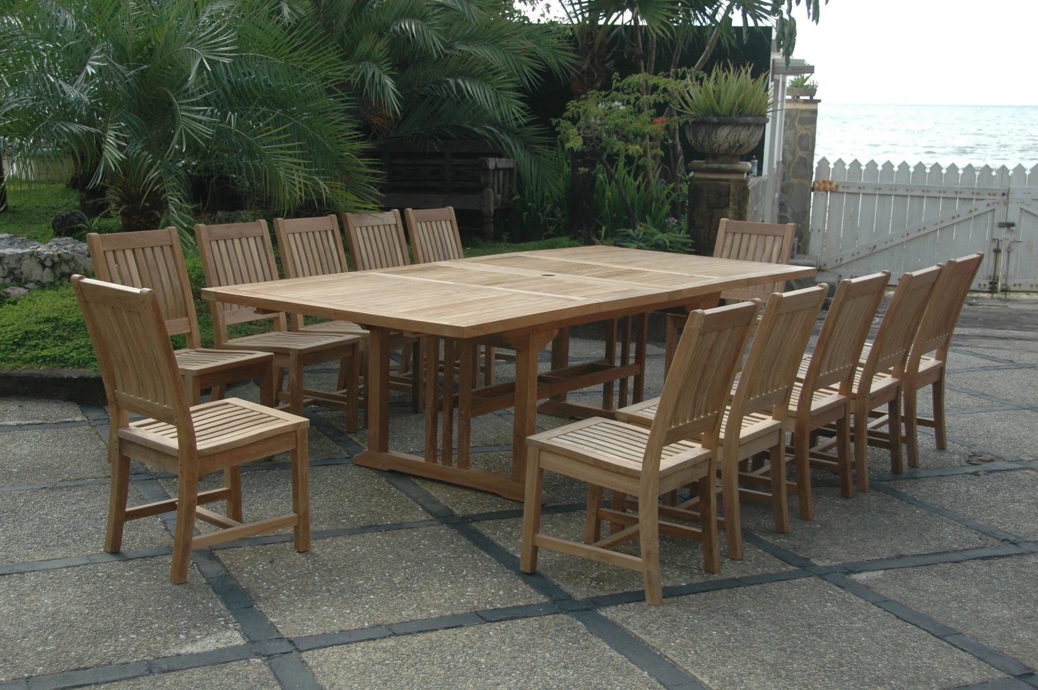 anderson rectangular 95 double ext table w 12 rialto dining chairs set 8