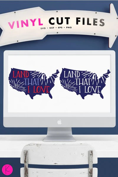 Download Land That I Love United States SVG Cut File   Kelly Lollar ...