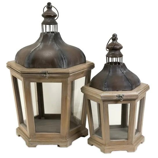 Bird Rock Lanterns Set Of 2 Su Vida Home