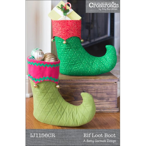 Christmas Elf Loot Boot | PDF + Paper Pattern | Holiday Sewing