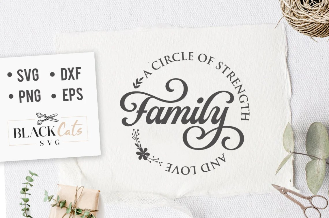 Download Family a circle of strenght and love SVG file Cutting File ...