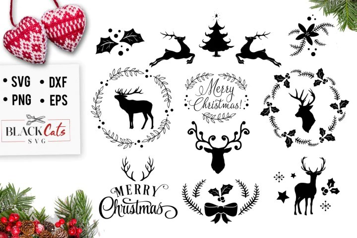 Download Christmas SVG pack cutting file - BlackCatsSVG