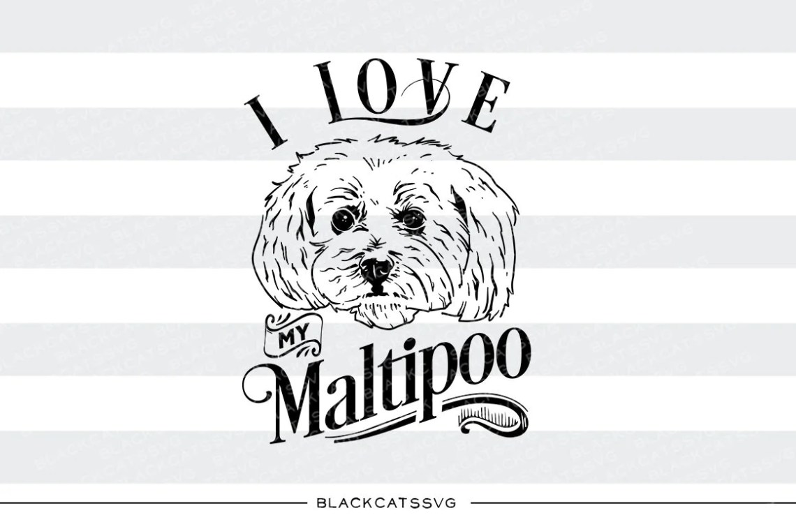 Download I love my Maltipoo- SVG file Cutting File Clipart in Svg ...