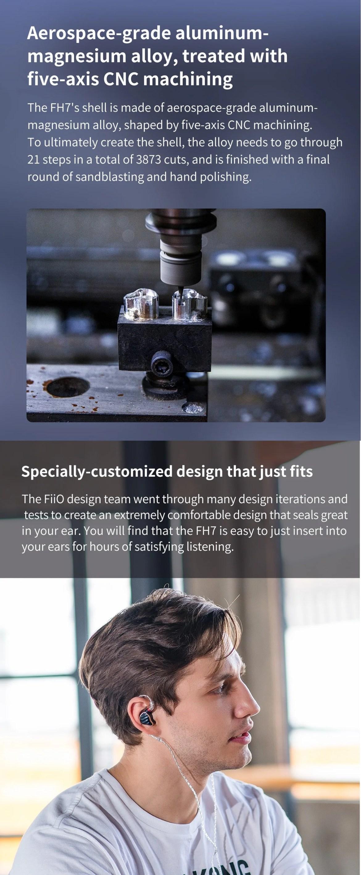 FiiO FH7 5-Drive Hybrid in-Ear Monitor