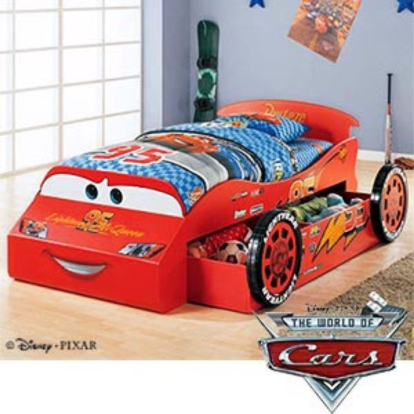 disney lightning mcqueen twin bed with trundle