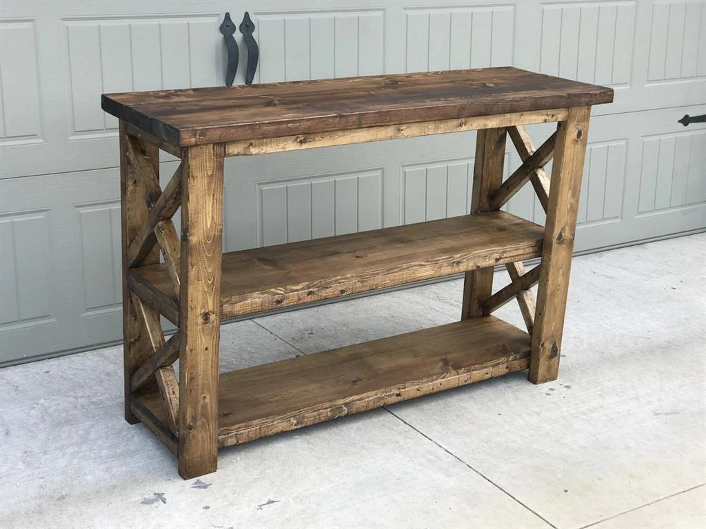 X Console Table Handmade Haven